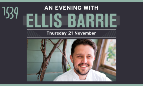 Celebrity Chef Ellis Barrie to host One-Off Six Course Tasting Evening